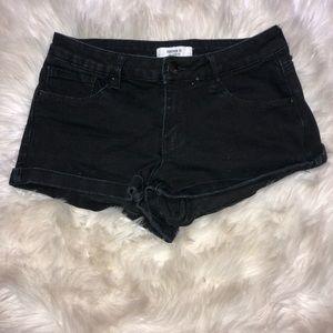 Black Faded Shorts